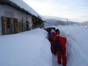 accueil à l'écomusée en hiver